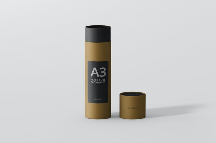 Thumbnail for Paper Tube Packaging Mockup - Slim High