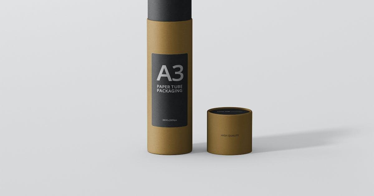 Download Paper Tube Packaging Mockup - Slim High by visconbiz