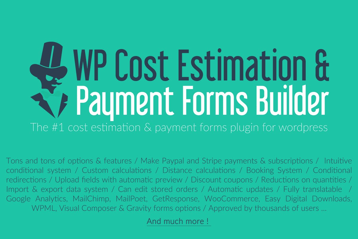 Download WP Cost Estimation & Payment Forms Builder by loopus by Unknow