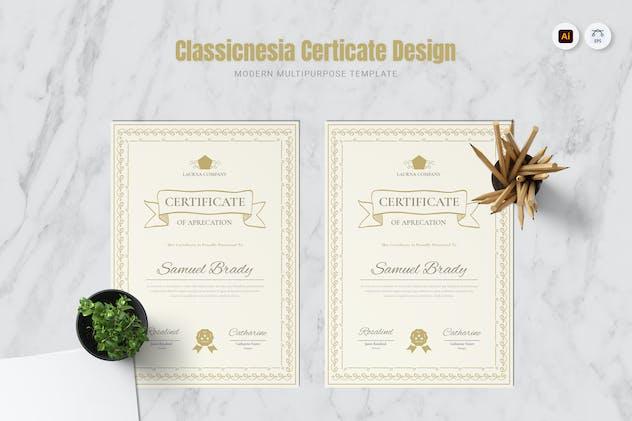 Classicnesia Certificate