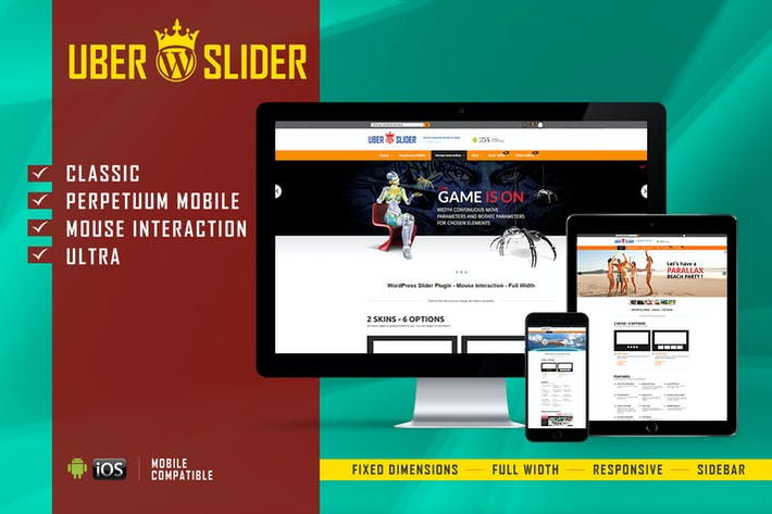 Thumbnail for UberSlider - Layer Slider WordPress Plugin