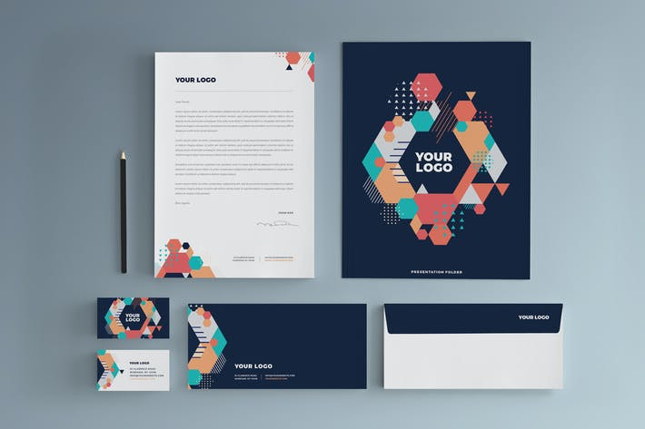 Thumbnail for Colorful Modern Cool Stationery
