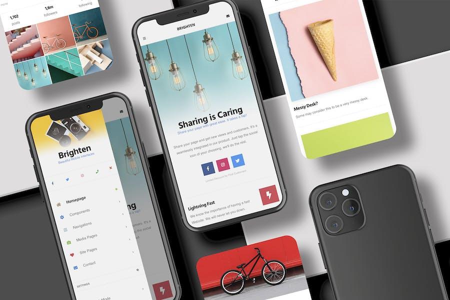Brighten   PWA Mobile Template - Bootstrap 5