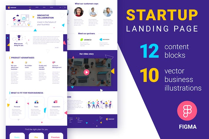 Thumbnail for Landing page with vector illustrations