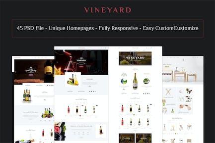VINEYARD - E-Commerce and Blog PSD Theme
