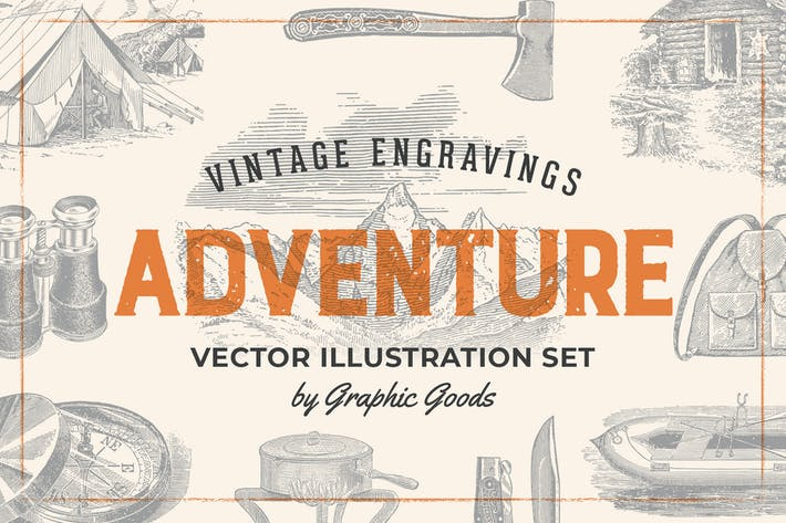 Thumbnail for Adventure – Vintage Engraving Illustration Set