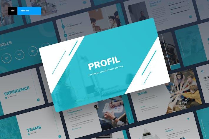 Thumbnail for Profil - Personal Portfolio Keynote Presentation