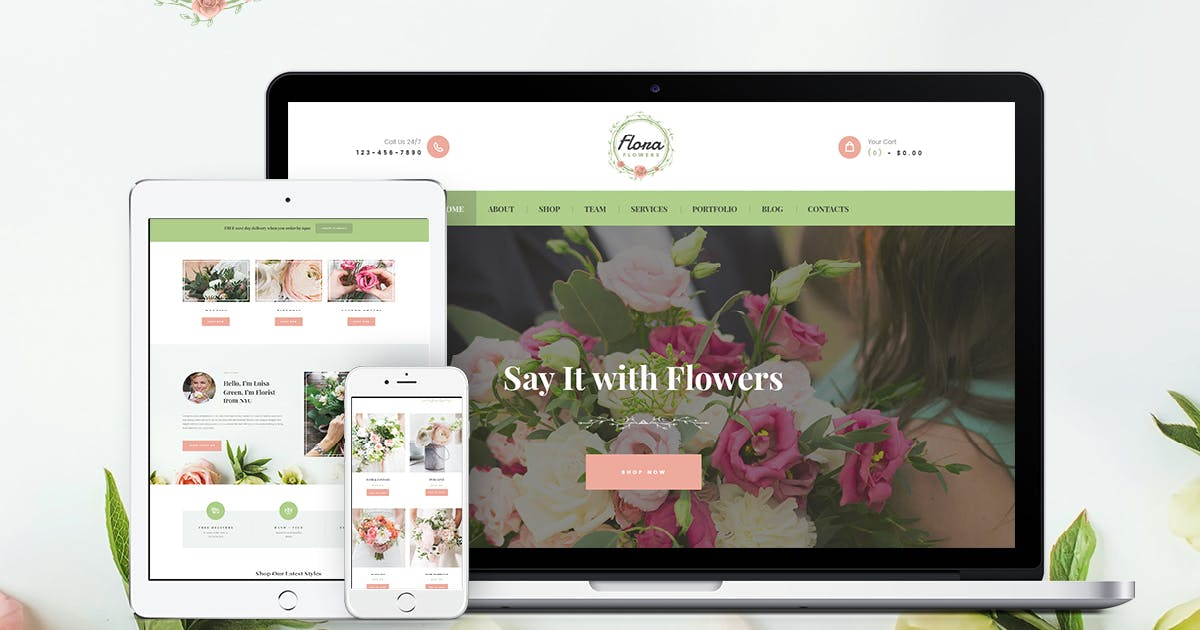 Download Flowers Boutique and Florist WordPress Theme by AncoraThemes