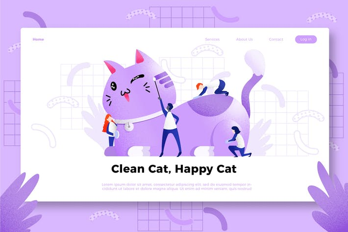 Thumbnail for Cat - Banner & Landing Page