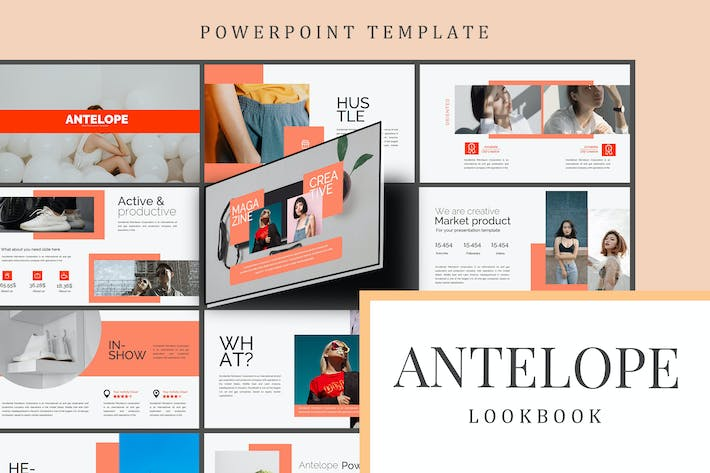 Thumbnail for Antelope Lookbook - Powerpoint Template