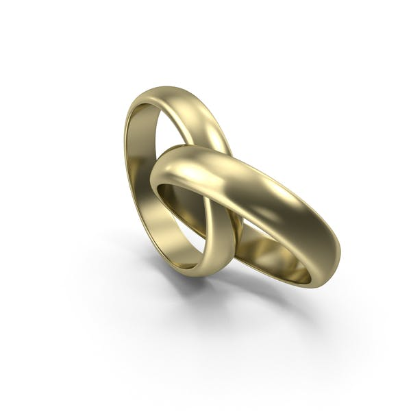 Golden Bright Wedding Rings