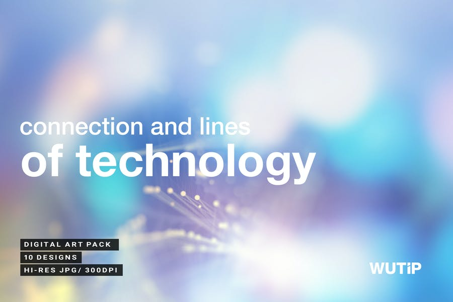 Connection and lines of technology backgrounds