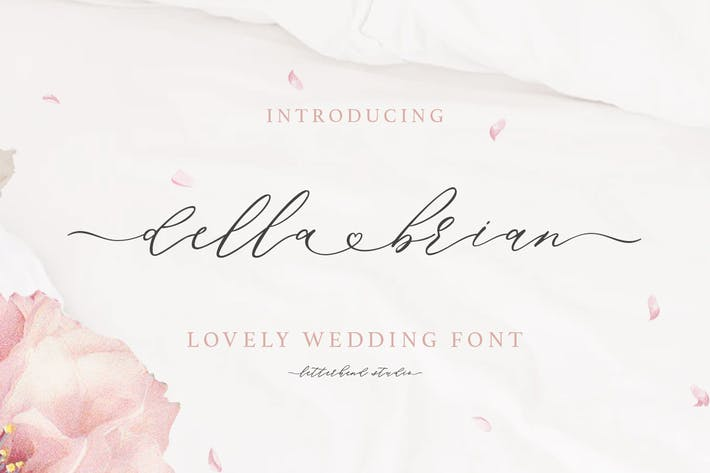 Thumbnail for Della Brian - Lovely Wedding Font