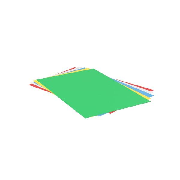 Стек цветных бумаг