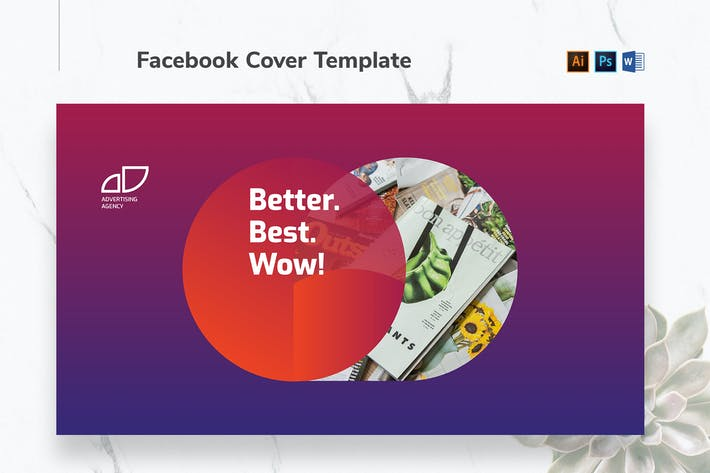 Thumbnail for Advertising Agency Facebook Cover