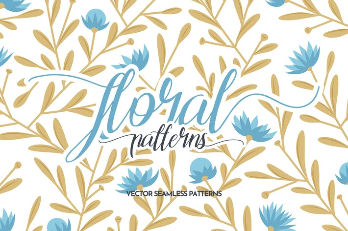 Cover Image For Floral Seamless Patterns