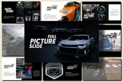 Furious - Sport Google Slides Dark