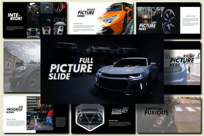 Thumbnail for Furious - Sport Google Slides Dark