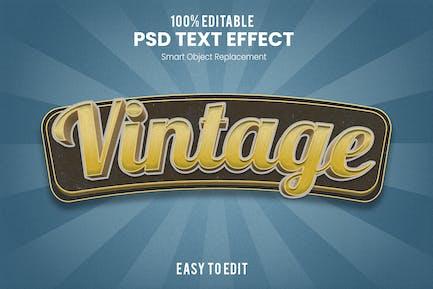 Vintage 3D Text Effect