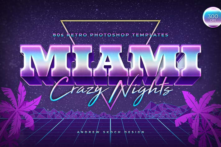 Thumbnail for Miami - 80s Retro Text Effect