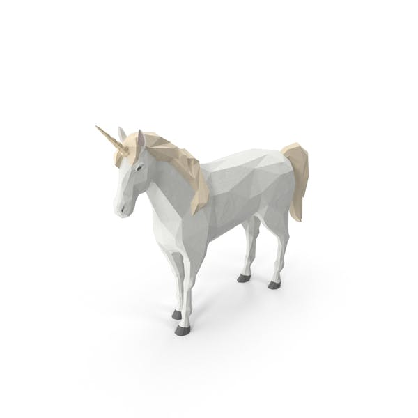 Thumbnail for Low Poly Einhorn