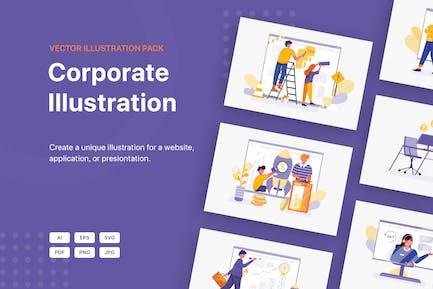Paquete de ilustración corporativa
