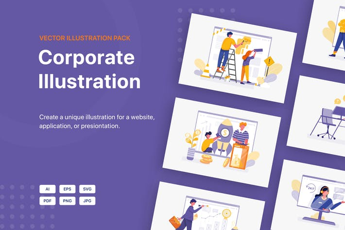 Thumbnail for Corporate Illustration Pack