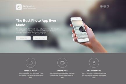 Snapview - Mobile App Landing Vorlage