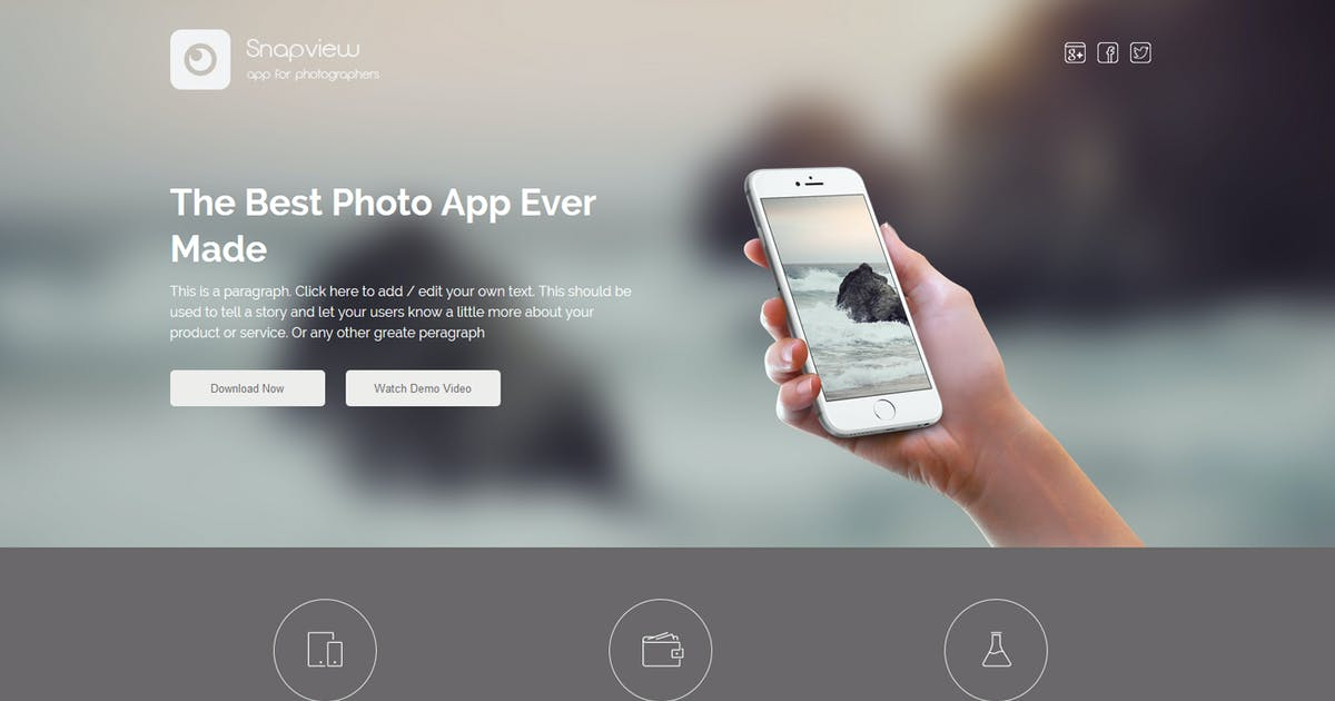 Download Snapview - Mobile App Landing Template by Muse-Master