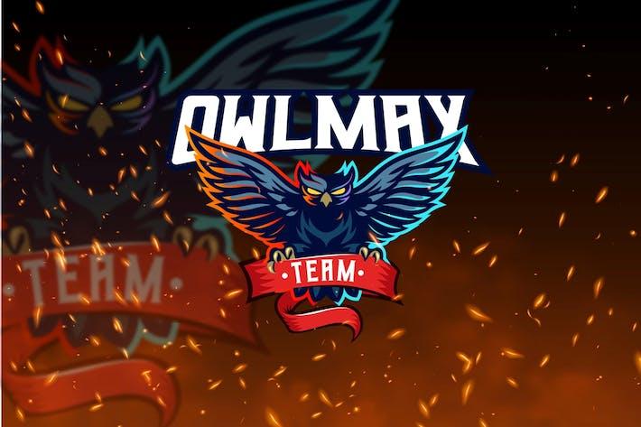 Thumbnail for Owlmax Team - Owl Mascot & Esport Logo