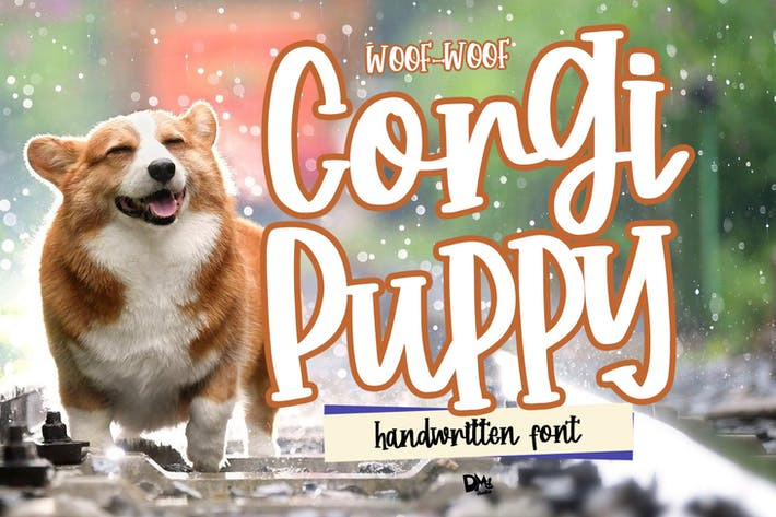 Thumbnail for Corgi Puppy - Fuente manuscrita