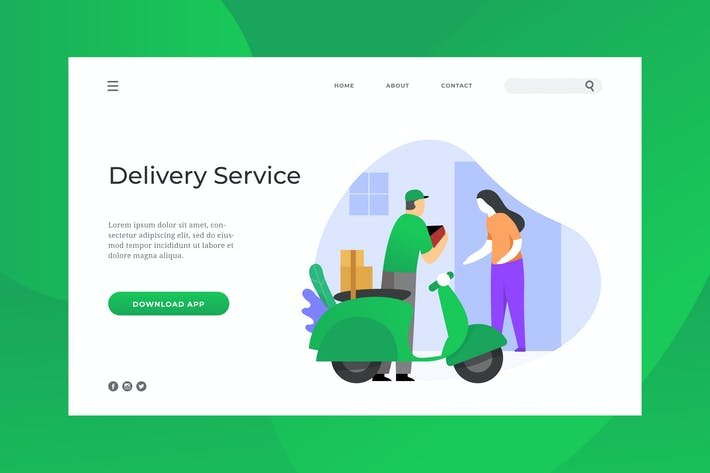 Thumbnail for Delivery Service Landing Page
