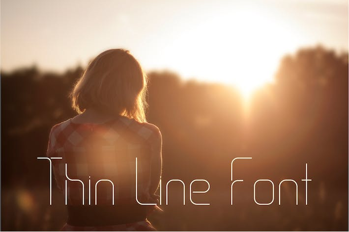 Thumbnail for Thin Line Font