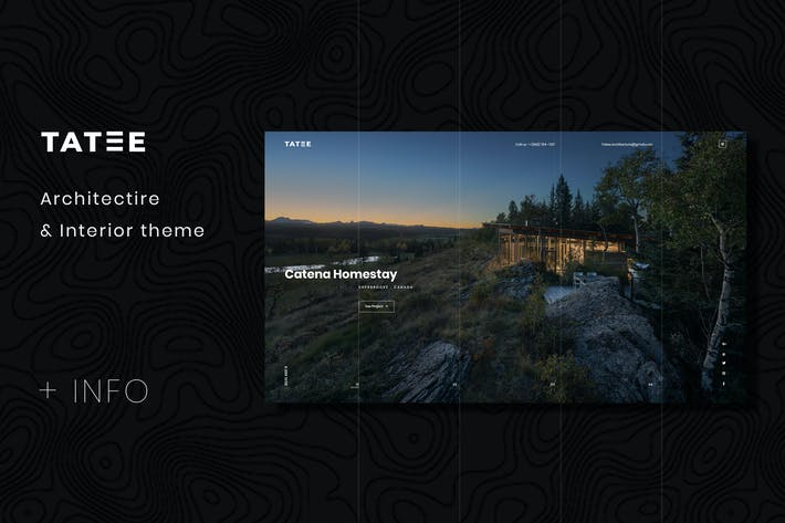 Thumbnail for Tatee - Architecture PSD Template