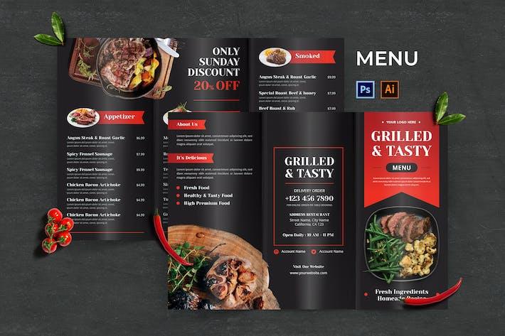 Grilled Steak Food Menu