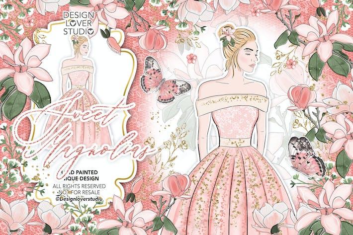 Thumbnail for Sweet Magnolias design