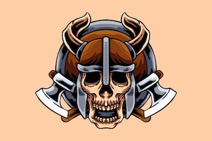 Viking Totenkopf mit Achsen