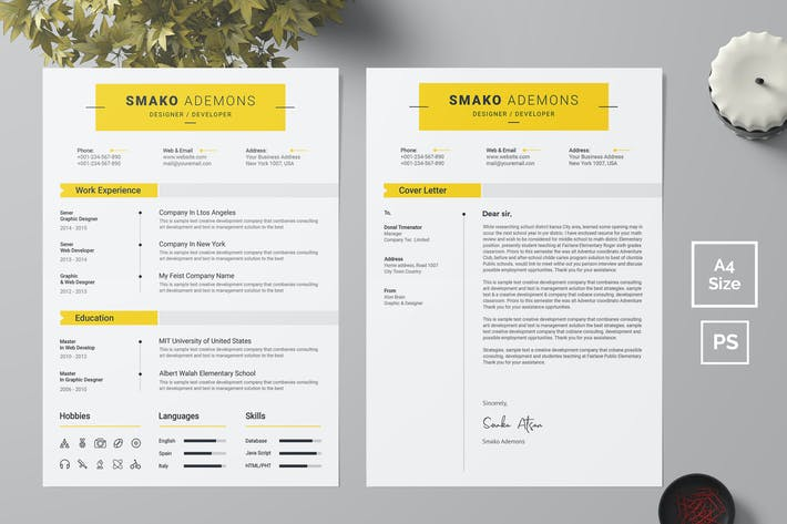 Thumbnail for Resume Template 39