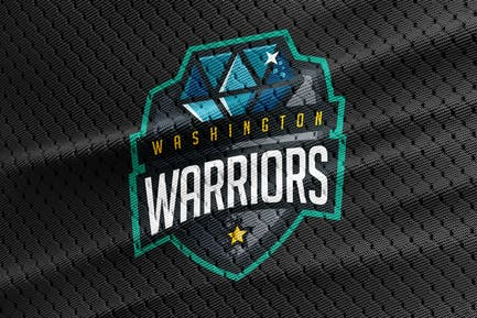 Warriors - Diamond Team Logo Template