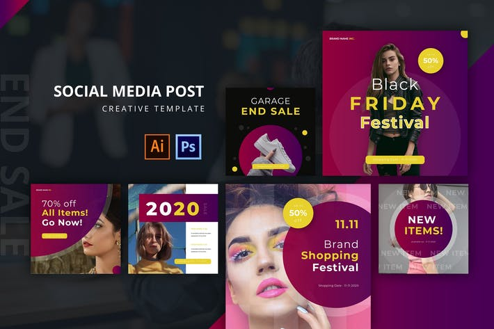 Thumbnail for End Sale Social Media Post Template