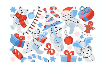 Christmas Teddy Clipart