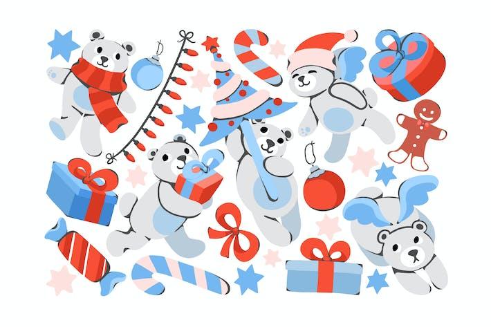 Thumbnail for Christmas Teddy Clipart