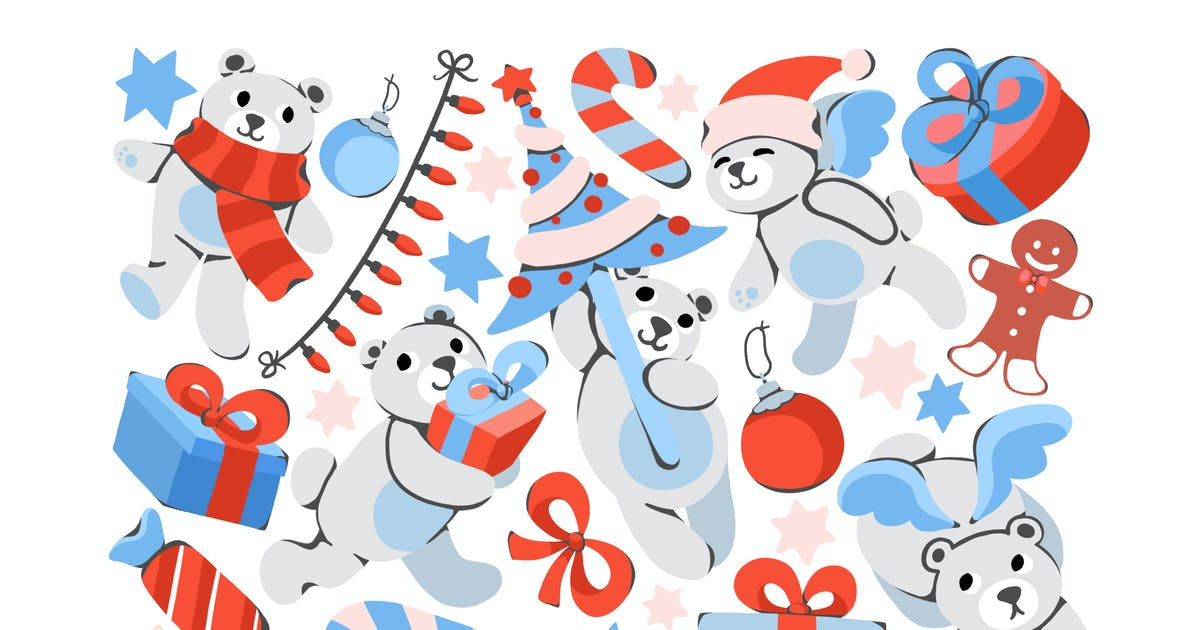 Download Christmas Teddy Clipart by Jumsoft