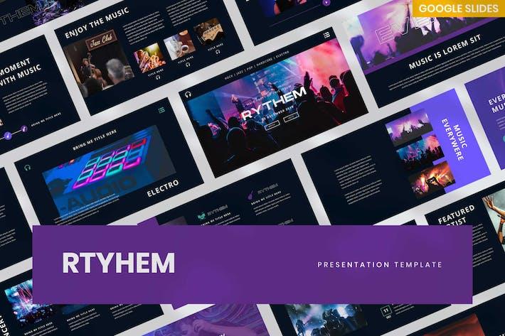 Музыкальное событие Rythem - Шаблон слайдов Google