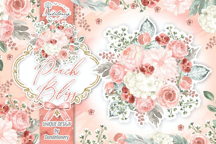 Thumbnail for Watercolor Peach Bliss design