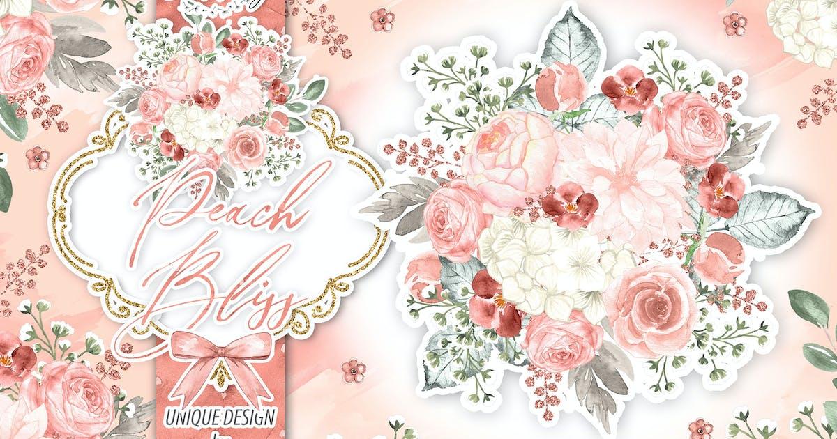 Download Watercolor Peach Bliss design by designloverstudio