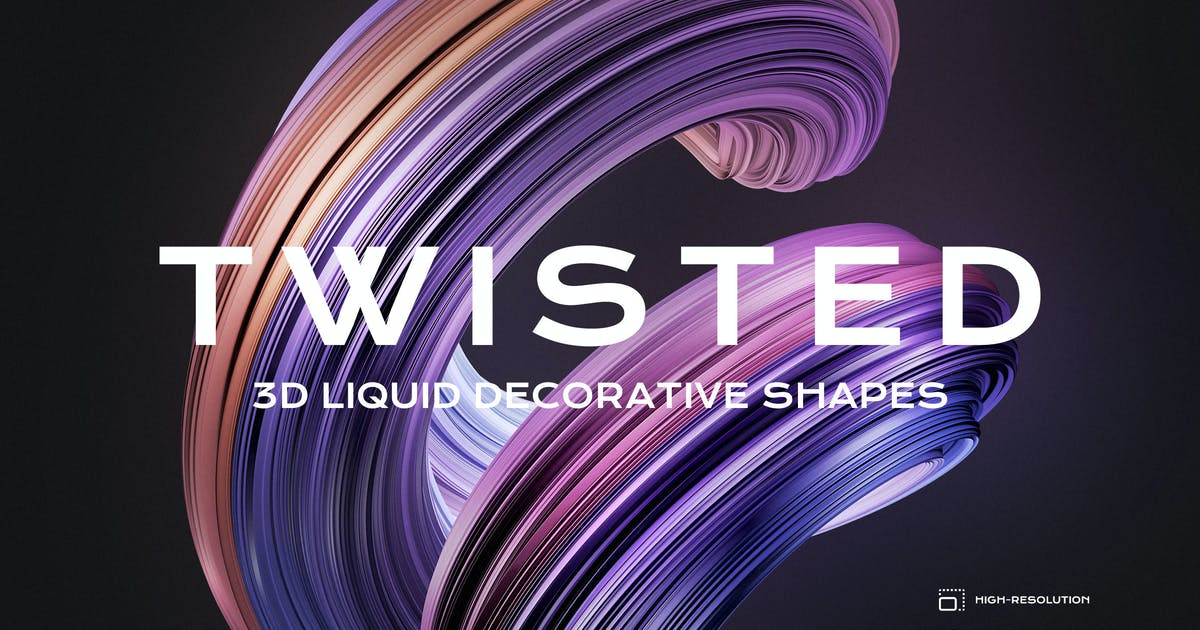 Download 3D Twisted Decorative Shapes Backgrounds by themefire