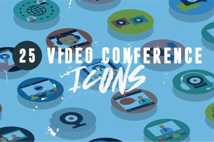 Thumbnail for 25 Video Conference Icons