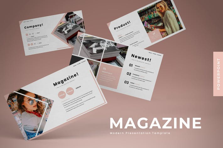 Thumbnail for Magazine - Powerpoint Template