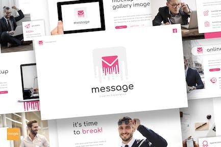 Message - Google Slides Template